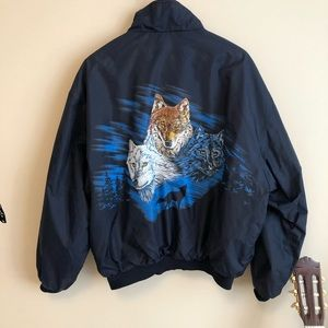 Vintage  Back wolf windbreaker 😍😍
